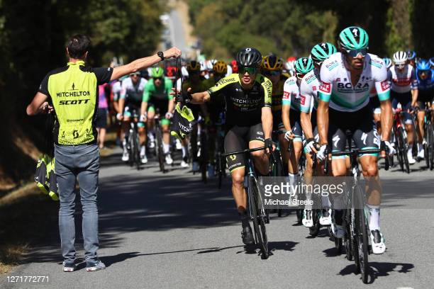 Christopher Juul Jensen of Denmark and Team Mitchelton - Scott / Feed Zone / Soigneur / during the 107th Tour de France 2020, Stage 12 a 218km stage...