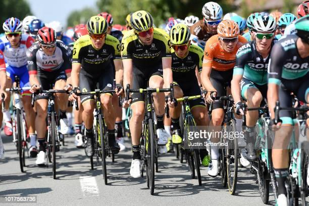 Christopher Juul Jensen of Denmark and Team Mitchelton - Scott / Luke Durbridge of Australia and Team Mitchelton - Scott / Caleb Ewan of Australia...