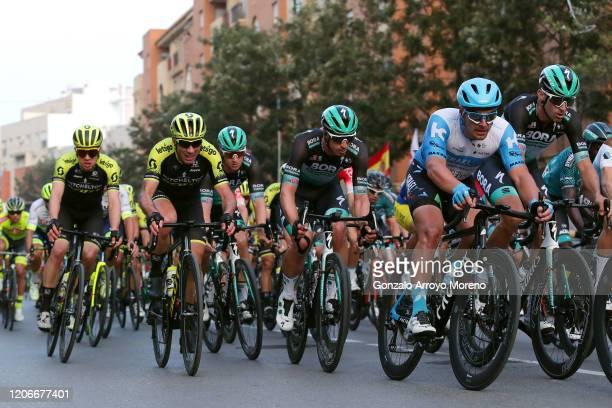 Christopher Juul Jensen of Denmark and Team Mitchelton - Scott / Michael Albasini of Switzerland and Team Mitchelton - Scott / Pascal Ackermann of...