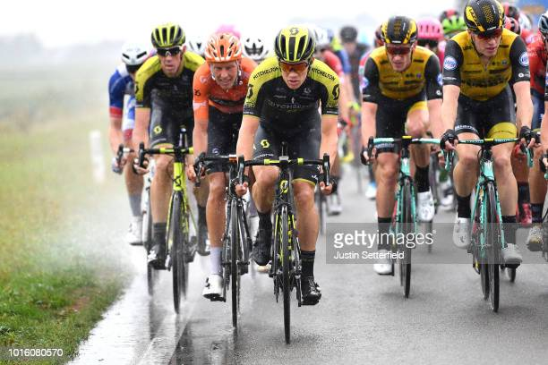 Christopher Juul Jensen of Denmark and Team Mitchelton - Scott / Rain / during the 14th BinckBank Tour 2018, Stage 1 a 177,3km stage from Heerenveen...