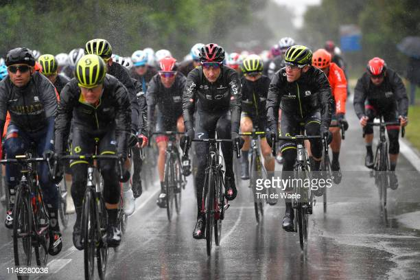 Christopher Juul Jensen of Denmark and Team Mitchelton - Scott / Tao Geoghegan Hart of United Kingdom and Team INEOS / Brent Bookwalter of The United...