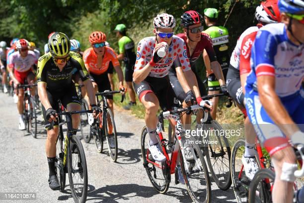 Christopher Juul Jensen of Denmark and Team Mitchelton-Scott / Tim Wellens of Belgium and Team Lotto Soudal Polka Dot Mountain Jersey / Dylan van...
