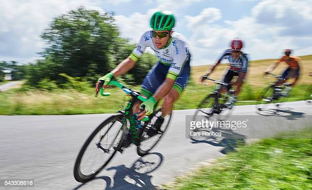 Christopher Juul Jensen of ORICA-GreenEDGE in action during the Elite Men Road Race Championships on day three of the Danish Cycling Championships on...