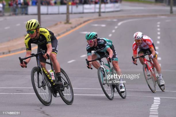 Christopher JuulJensen of Denmark and Team MitcheltonScott / Jay Mccarthy of Australia andTeam Bora Hansgrohe / during the 10th Grand Prix Cycliste...