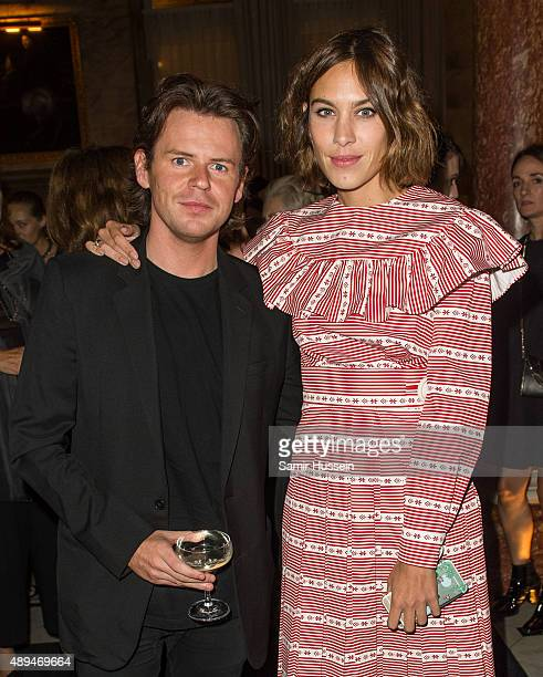 Christopher Kane and Alexa Chung attend the Business Of Fashion 500 Gala Dinner during London Fashion Week Spring/Summer 2016 on September 21, 2015...