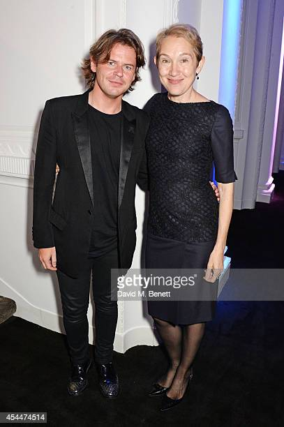 Christopher Kane and Justine Picardie arrive at the Scottish fashion invasion of London at the 9th annual Scottish Fashion Awards at 8 Northumberland...