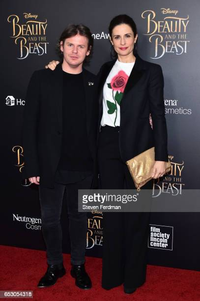 Christopher Kane and Livia Firth attend the New York Screening of 'Beauty And The Beast' at Alice Tully Hall on March 13 2017 in New York City