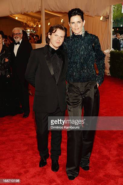 Christopher Kane and Stella Tennant attend the Costume Institute Gala for the 'PUNK Chaos to Couture' exhibition at the Metropolitan Museum of Art on...
