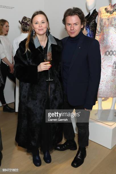 Christopher Kane and Tammy Kane attend Atelier Swarovski 10th Anniversary Book Launch at Phillips Gallery on March 19 2018 in London England
