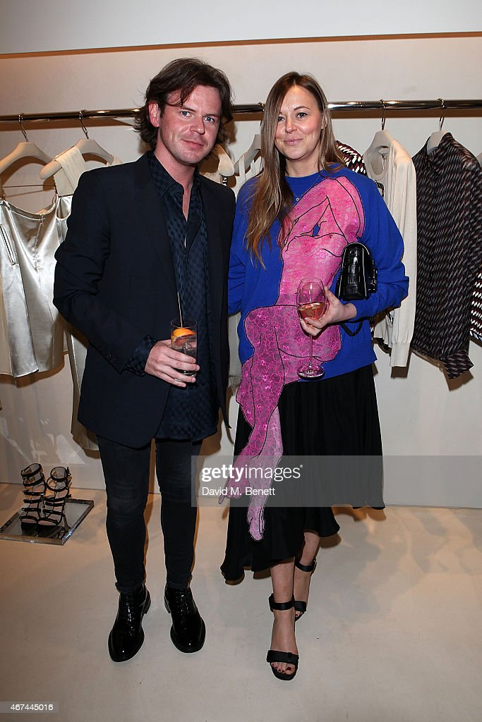 Christopher Kane and Tammy Kane attends the opening of Christopher Kane's London Flagship store on March 24, 2015 in London, England.