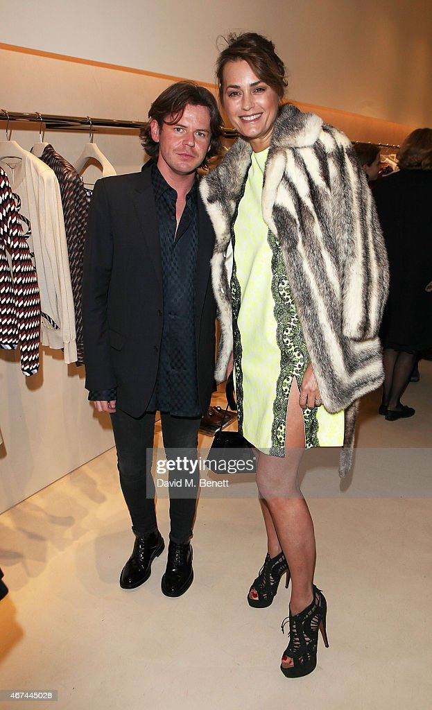 Christopher Kane and Yasmin Le Bon attend the opening of Christopher Kane's London Flagship store on March 24, 2015 in London, England.