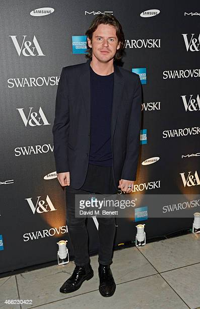 Christopher Kane arrives at the Alexander McQueen: Savage Beauty VIP private view at the Victoria and Albert Museum on March 14, 2015 in London,...
