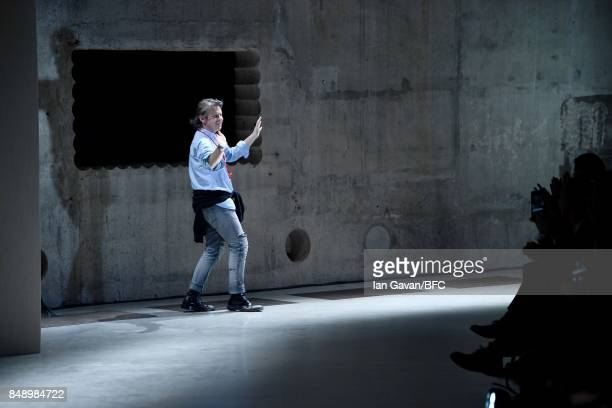 Christopher Kane at the Christopher Kane show during London Fashion Week September 2017 on September 18 2017 in London England