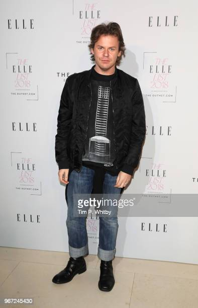 Christopher Kane attends The ELLE List 2018 at Somerset House on June 4 2018 in London England