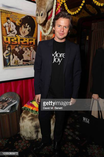 Christopher Kane attends the LOVE Magazine 10th birthday party with Perrier-Jouet at Loulou's on September 17, 2018 in London, England.