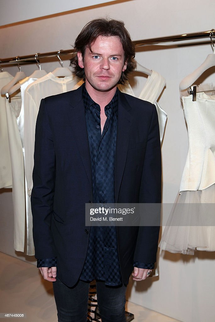 Christopher Kane attends the opening of Christopher Kane's London Flagship store on March 24, 2015 in London, England.