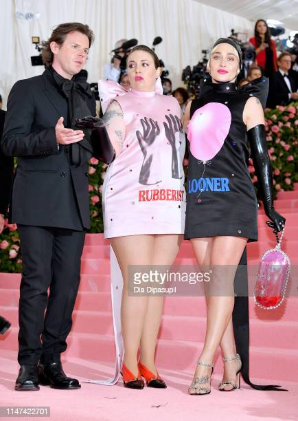 Christopher Kane Lena Dunham and Jemima Kirke attend The 2019 Met Gala Celebrating Camp Notes on Fashion at Metropolitan Museum of Art on May 06 2019...