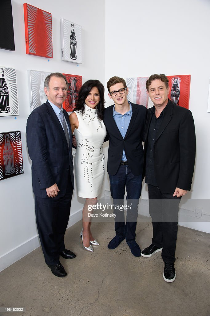 Christopher Kay, Sheila Rosenblum, Erik Rosenblum and Pop Artist Burton Morris attend the Sheila Rosenblum Resident Magazine Cover Party at Soho Contemporary Art Gallery on November 19, 2015 in New York City.