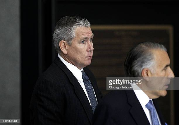 Christopher Kelly left an adviser and campaign fundraiser for Gov Rod Blagojevich and his attorney Michael Monico arrive at the Dirksen US Courthouse...