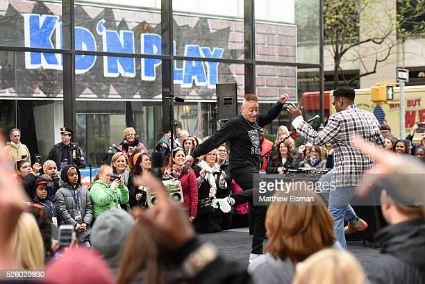 Christopher Kid Reid and Christopher Play Martin of Kid 'n Play perform live on stage for NBC's Today at Rockefeller Plaza on April 29 2016 in New...
