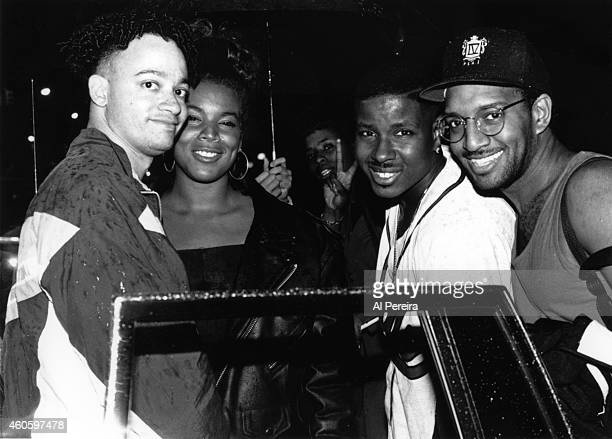 Christopher Kid Reid Christopher Play Martin and Mark DJ Wiz Eastmond poses for a portrait at an MC Lyte party at Club Shelter in circa 1988 in New...