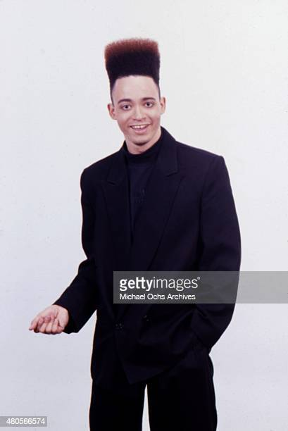 Christopher 'Kid' Reid of the hiphop group 'Kid 'n Play' poses for a portrait session in circa 1988 in New York New York