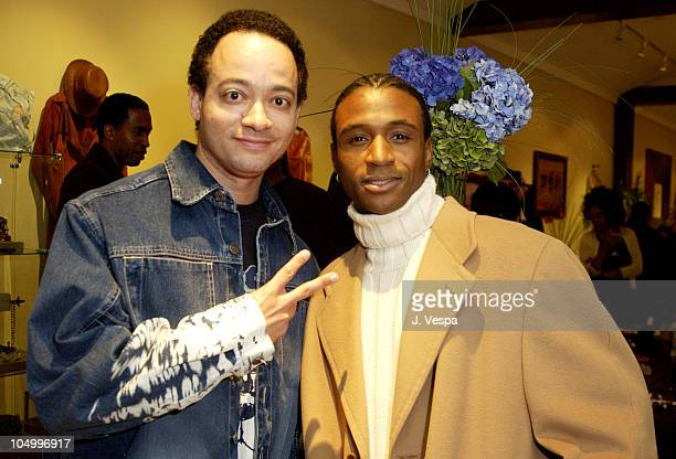 Christopher Kid Reid Tommy Davidson during Shikiri Boutique One Year Anniversary Party at Shikiri Boutique in Los Angeles California United States