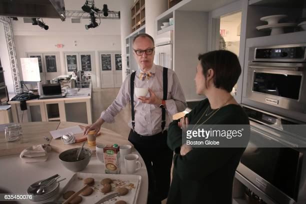 Christopher Kimball talks with his wife and cofounder/media director Melissa Baldino at Christopher Kimball's Milk Street in downtown Boston on Feb 6...