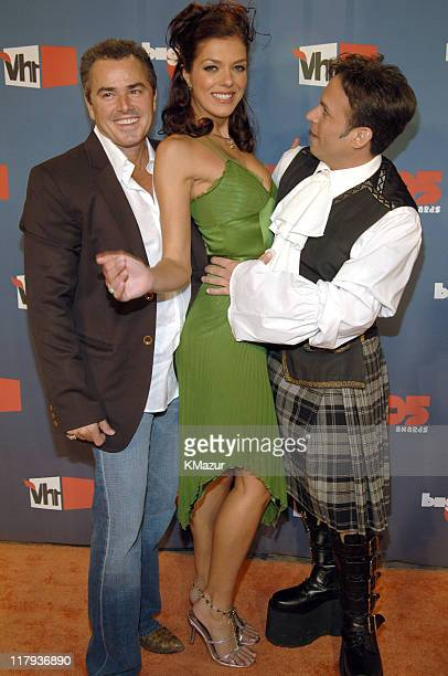 Christopher Knight Adrianne Curry and Ant during VH1 Big in '05 Red Carpet at Sony Studios in Los Angeles California United States