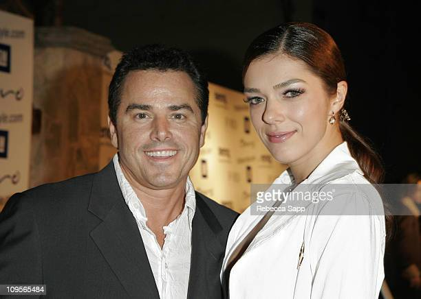 Christopher Knight and Adrianne Curry during The Many Faces of LA Fashion Hosted by General Motors Red Carpet and Inside at Monmartre Lounge in...