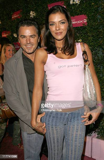Christopher Knight and Adrianne Curry during TMobile Sidekick 3 Launch Red Carpet at 6215 Sunset Blvd in Los Angeles California United States