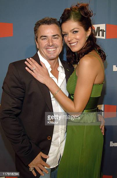 Christopher Knight and Adrianne Curry during VH1 Big in '05 Red Carpet at Sony Studios in Los Angeles California United States