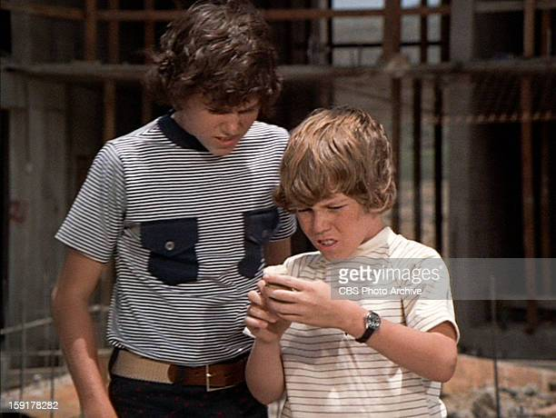 Christopher Knight as Peter Brady and Mike Lookinland as Bobby Brady in THE BRADY BUNCH episode Hawaii Bound Original air date September 22 1972...