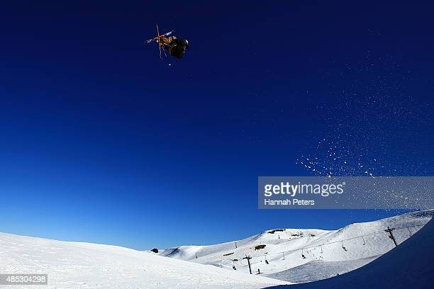 Christopher Laker of the United States competes in the FIS Freestyle Ski World Cup Slopestyle Qualification during the Winter Games NZ at Cardrona...