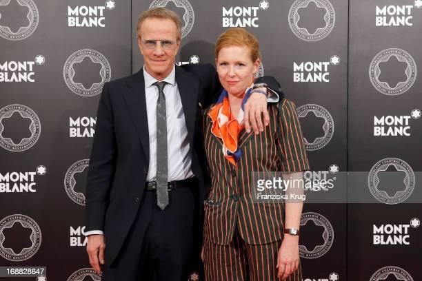 Christopher Lambert and Ulla von Brandenburg attend at the Montblanc Vernissage 'Ulla von Brandenburg Das Versteck des WL' at Galerie der Gegenwart...