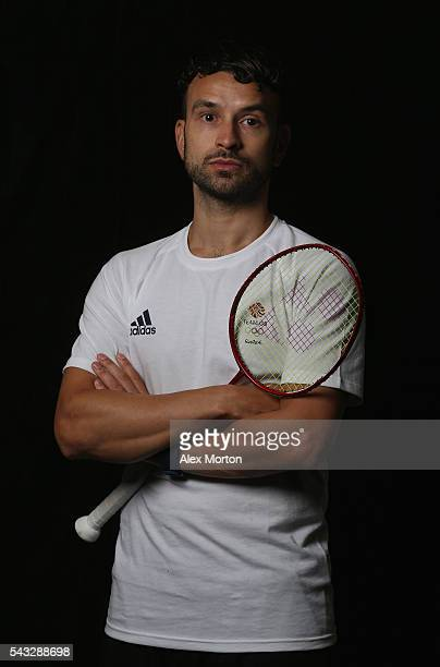 Christopher Langridge of Team GB during the Announcement of Badminton Athletes Named in Team GB for the Rio 2016 Olympic Games at the National...