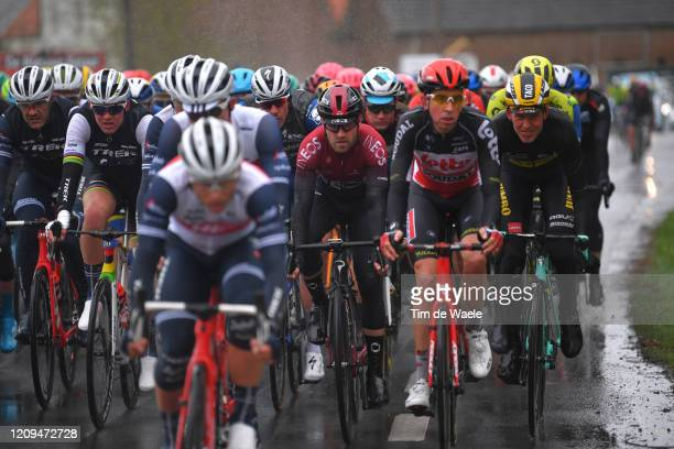 Christopher Lawless of United Kingdom and Team INEOS / Taco Van Der Hoorn of The Netherlands and Team Jumbo Visma / Peloton / Rain / during the 75th...