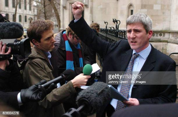 Christopher Lawrence Bowen the solicitor for Michael Steele talks to the press outside the Royal Courts of Justice in London Wednesday February 22...