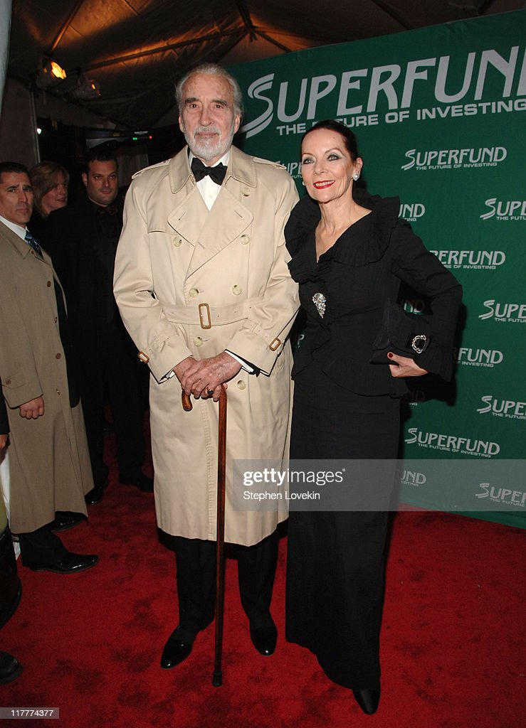 Christopher Lee and wife Birgit during The 2006 Women's World Awards - Red Carpet at The Hammerstein Ballroom in New York City, New York, United States.