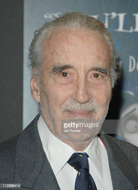 Christopher Lee during 'Corpse Bride' London Premiere Inside Arrivals at Vue West End in London Great Britain