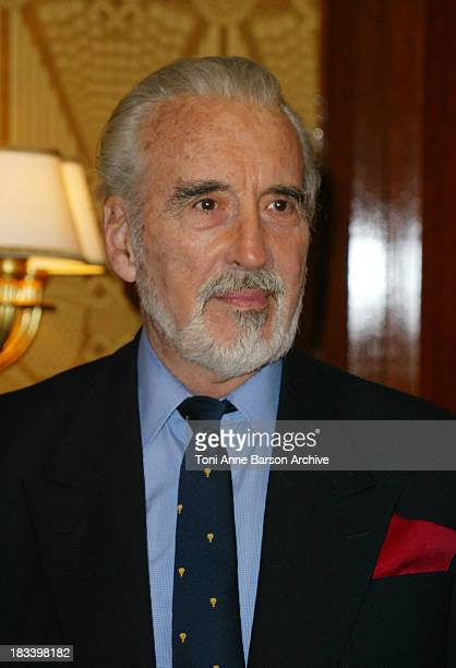Christopher Lee during The Lord of the Rings The Two Towers Photocall Paris at Four Seasons Hotel George V in Paris France