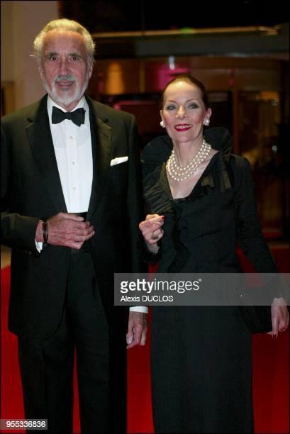 Christopher Lee et son épouse