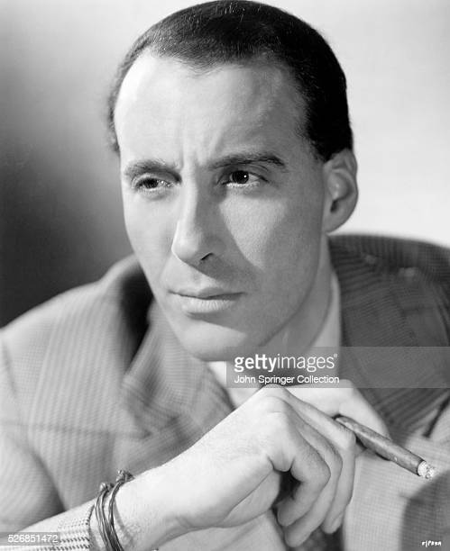 Christopher Lee Film Actor with cigar Undated Publicity Still