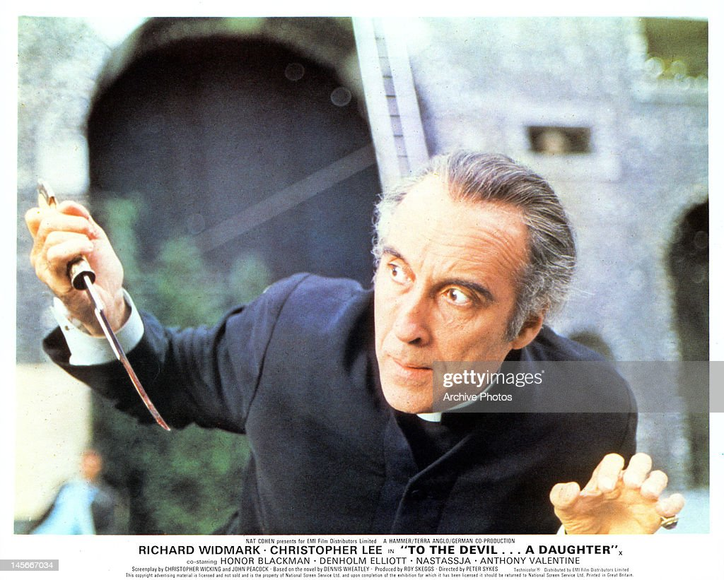 Christopher Lee In ''To The Devil A Daughter' : News Photo