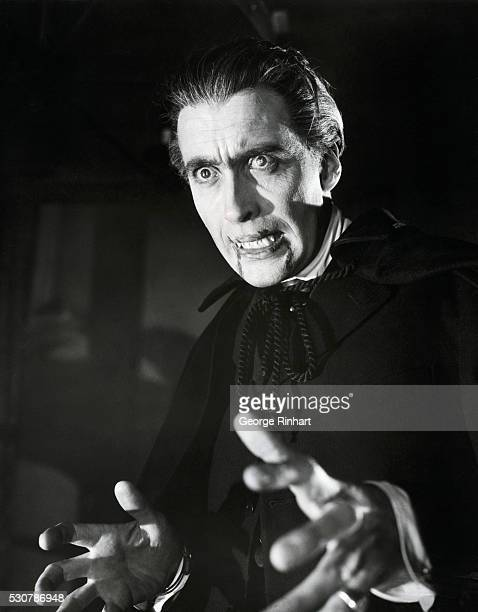 Christopher Lee in the title role in the 1958 movie Dracula aka Horror of Dracula