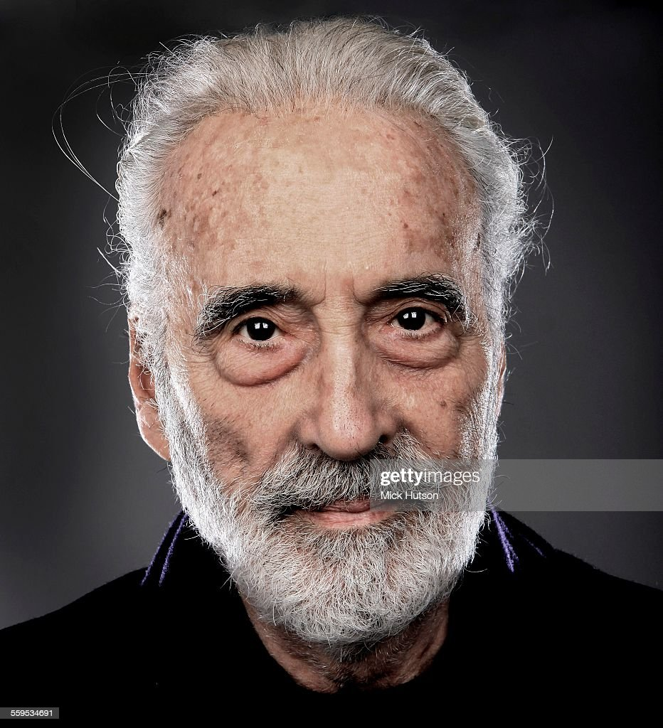 Christopher Lee, portrait, backstage at the Golden Gods Awards at the O2 in London on June 15th 2014.