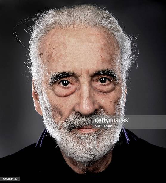 Christopher Lee portrait backstage at the Golden Gods Awards at the O2 in London on June 15th 2014