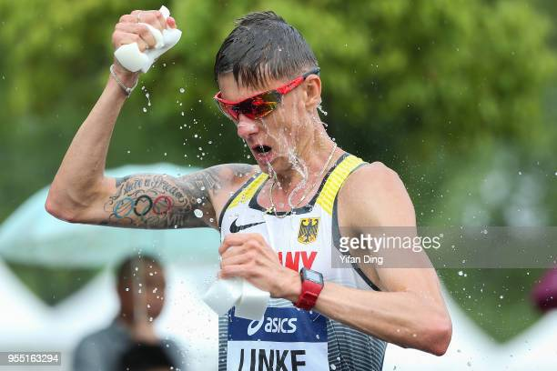 Christopher Linke of Germnay in action during Men's 20 kilometres Race Walk of IAAF World Race Walking Team Championships Taicang 2018 on May 6 2018...