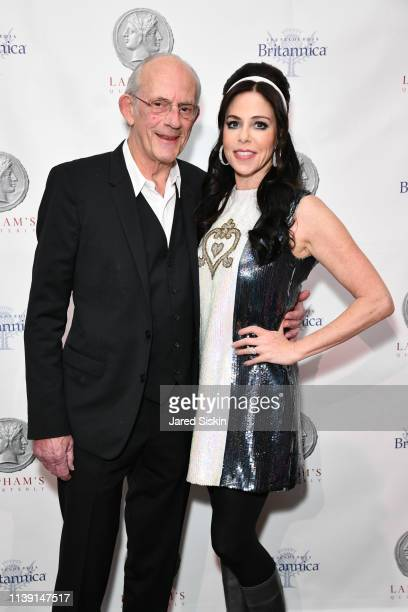 Christopher Lloyd and Lisa Lloyd attend Lapham's Quarterly Decades Ball 2019 at 583 Park Avenue on March 25 2019 in New York City
