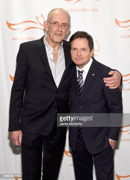 Christopher Lloyd and Michael J. Fox attend A Funny Thing Happened On The Way To Cure Parkinson's benefitting The Michael J. Fox Foundation at the...